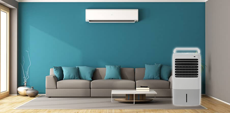 Using a combination of fan and air conditioner