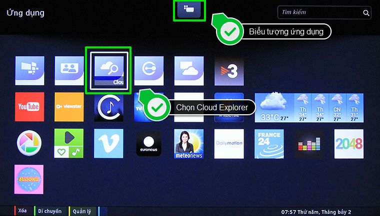 Select Cloud Explorer in the application list