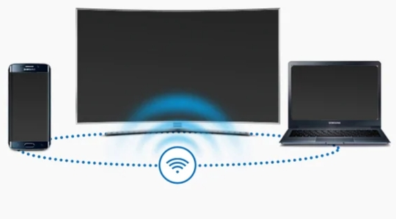 Turn on wifi both phone and TV on the same network
