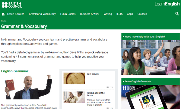Website Learn English by British Council