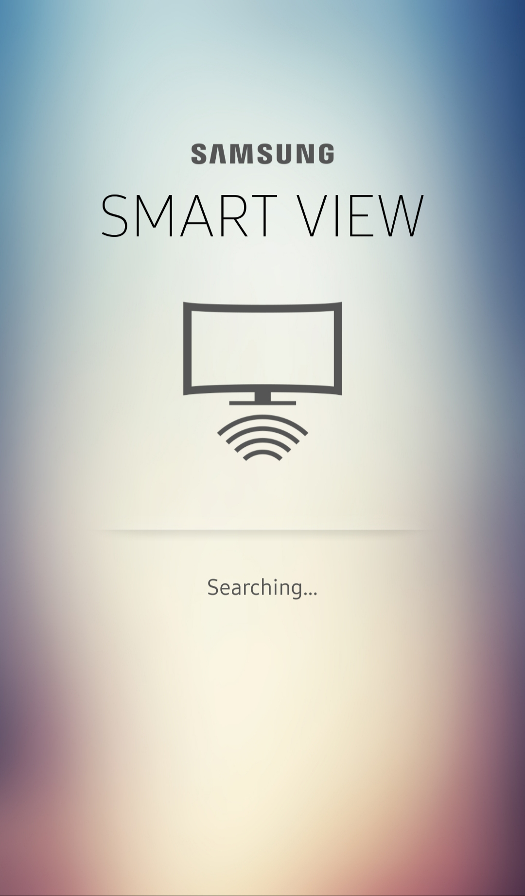 Smart View app automatically searches for TV to connect