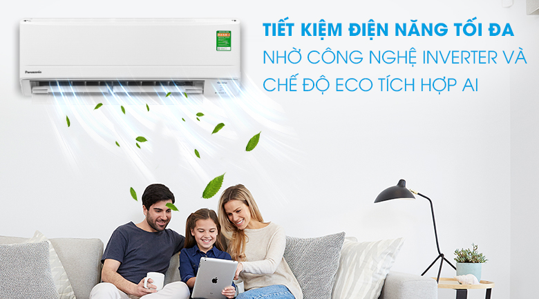ECO mode integrated with AI artificial intelligence -Panasonic air conditioner