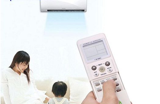Choosing the wrong mode on the air conditioner remote causes hot air