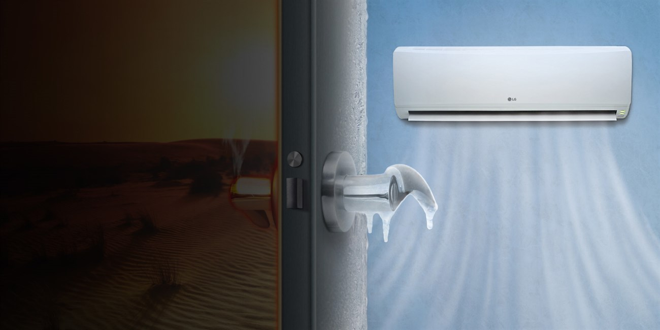 Close the door when using the air conditioner
