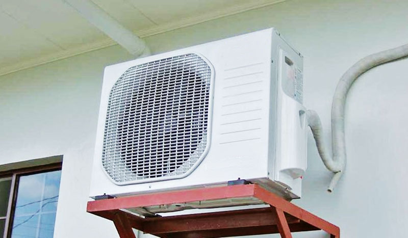Install the heater in a cool place, away from sunlight and 30cm away from the wall