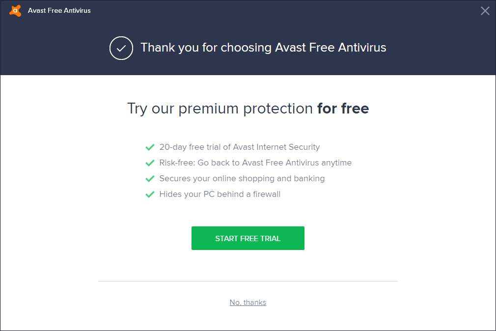Avast copyright, must pay when using