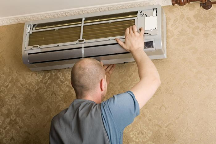 Clean the air conditioner to help it work stably