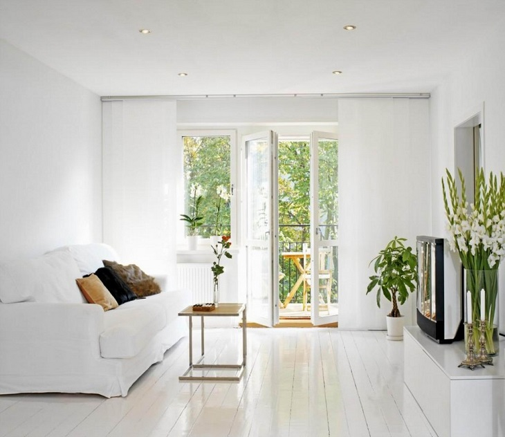 Place potted plants in air-conditioned rooms