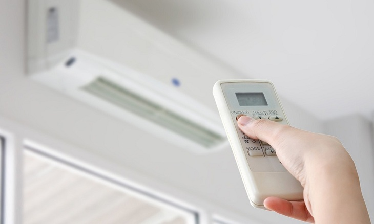 Set the air conditioner above 26 degrees C