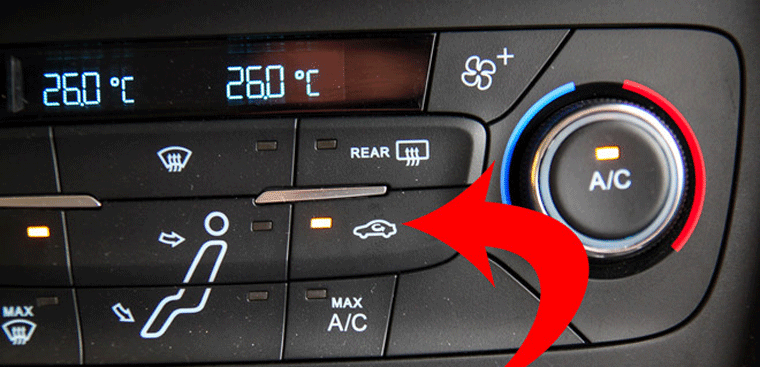 Adjust car air conditioner to ensure driver's safety