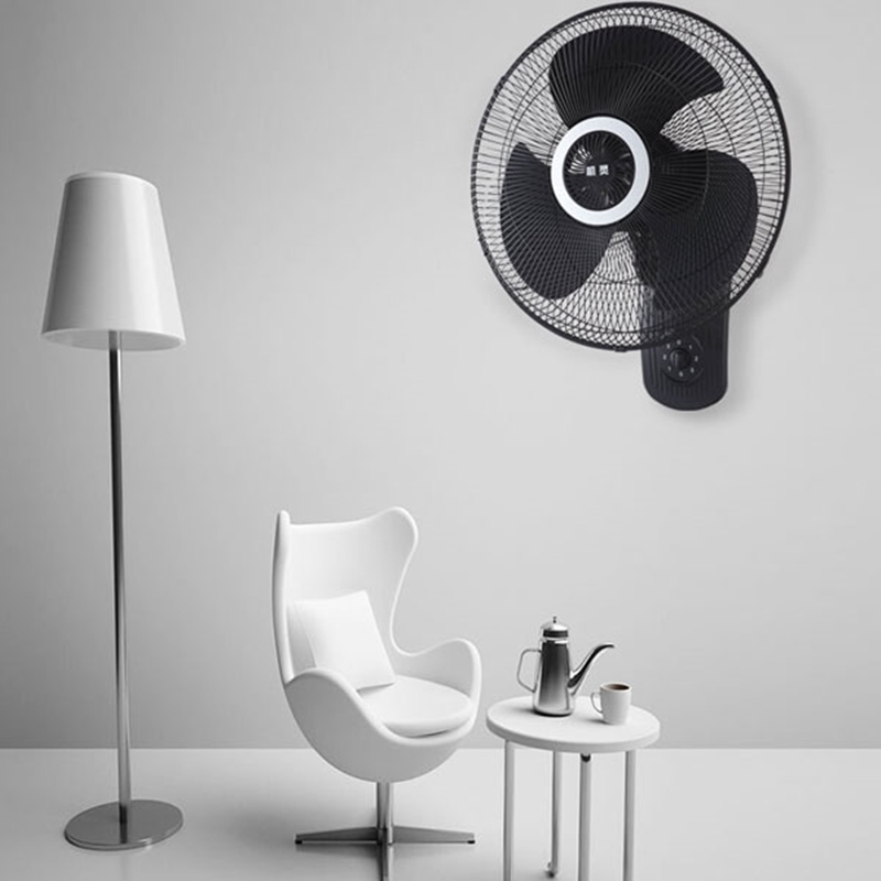 You should install the wall fan not too high