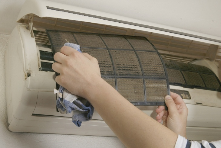 Routine air conditioning maintenance