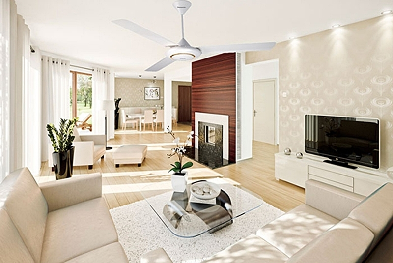 Hot air absorption by ceiling or wall fans