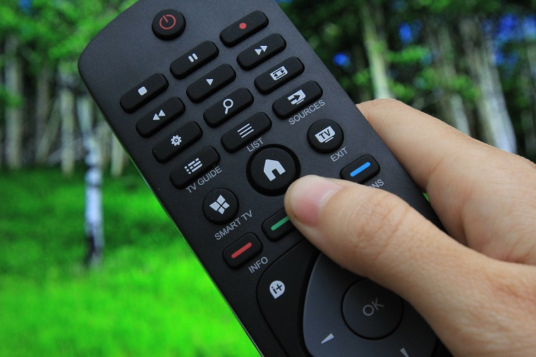 Press the Home button on the remote