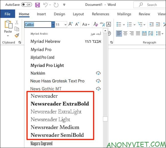 How to use Google Font in Microsoft Word 45