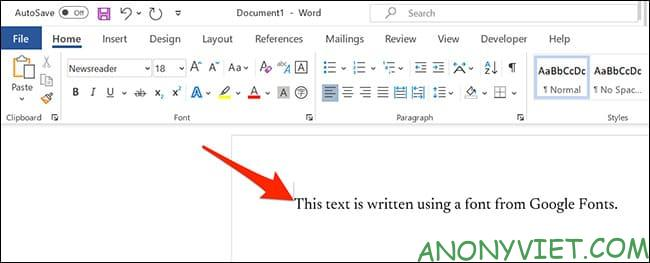 How to use Google Font in Microsoft Word 46