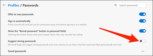 How to Enable/Disable Password Generator in Microsoft Edge 37
