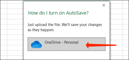 How to automatically save Excel files to OneDrive 62