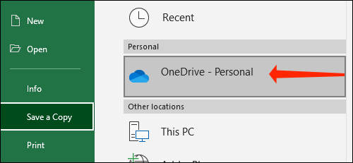 How to automatically save Excel files to OneDrive 67