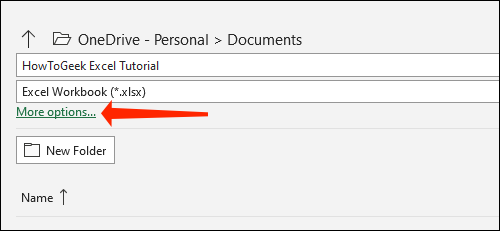 How to automatically save Excel files to OneDrive 68
